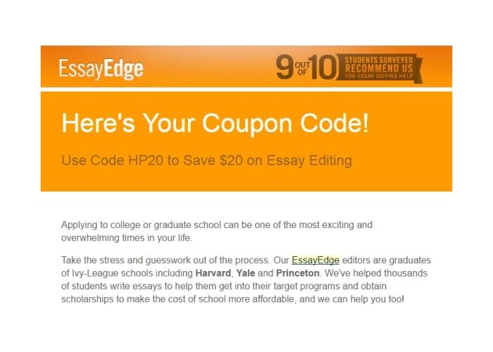 essay edge coupons