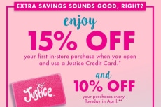 Shopjustice.com coupon code