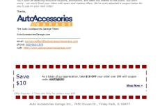 10 Off Auto Accessories Garage Coupon Code  2017 Promo Code